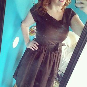 Chocolate brown vintage/retro style dress.